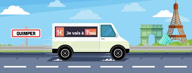 Quimper-Paris : 1€
